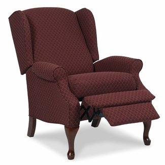 Burgundy Manual Wingback Recliner