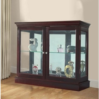Cherry Manufactured Wood Floor Standing Curio Cabinet