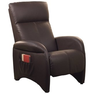 Chocolate Vinyl Manual Recliner