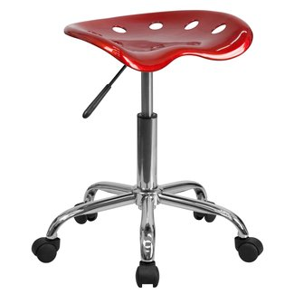Chrome Metal and Plastic Adjustable Industrial Stool