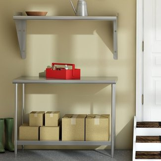 Chrome Plated Stainless Steel Workbench And Shelf