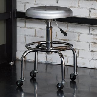 Chrome Plated Steel Industrial Work Stool