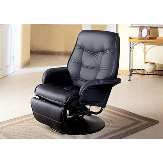 Classic Black Swivel Recliner