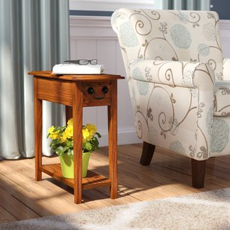 Classic Shaker Ash and Oak Veneer End Table