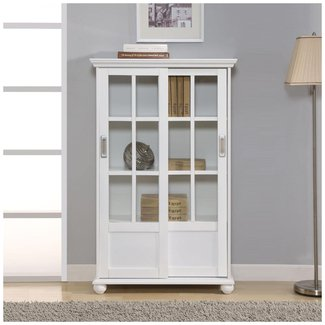 Classic Standard Bookcase With Sliding Doors