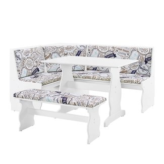 Coastal Three Piece Nook Dining Set