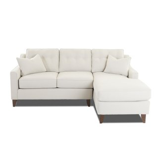 Comfortable Small Sectional Sofa With Toss Pillows