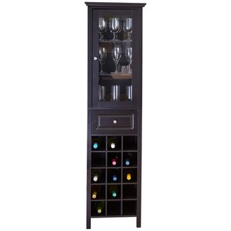 Compact Floor Bar With Wine Storage And A Drawer