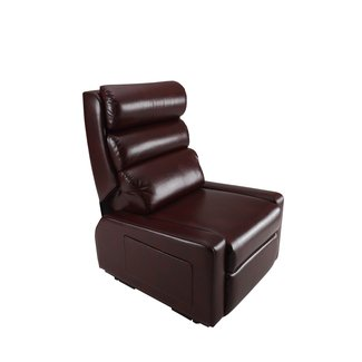 Contemporary Power Lift Recliner with a Waterfall Pillow