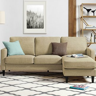 Contemporary Reversible Sectional Sofa