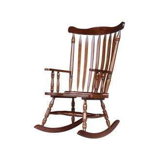 Contemporary Rubberwood Rocking Chair