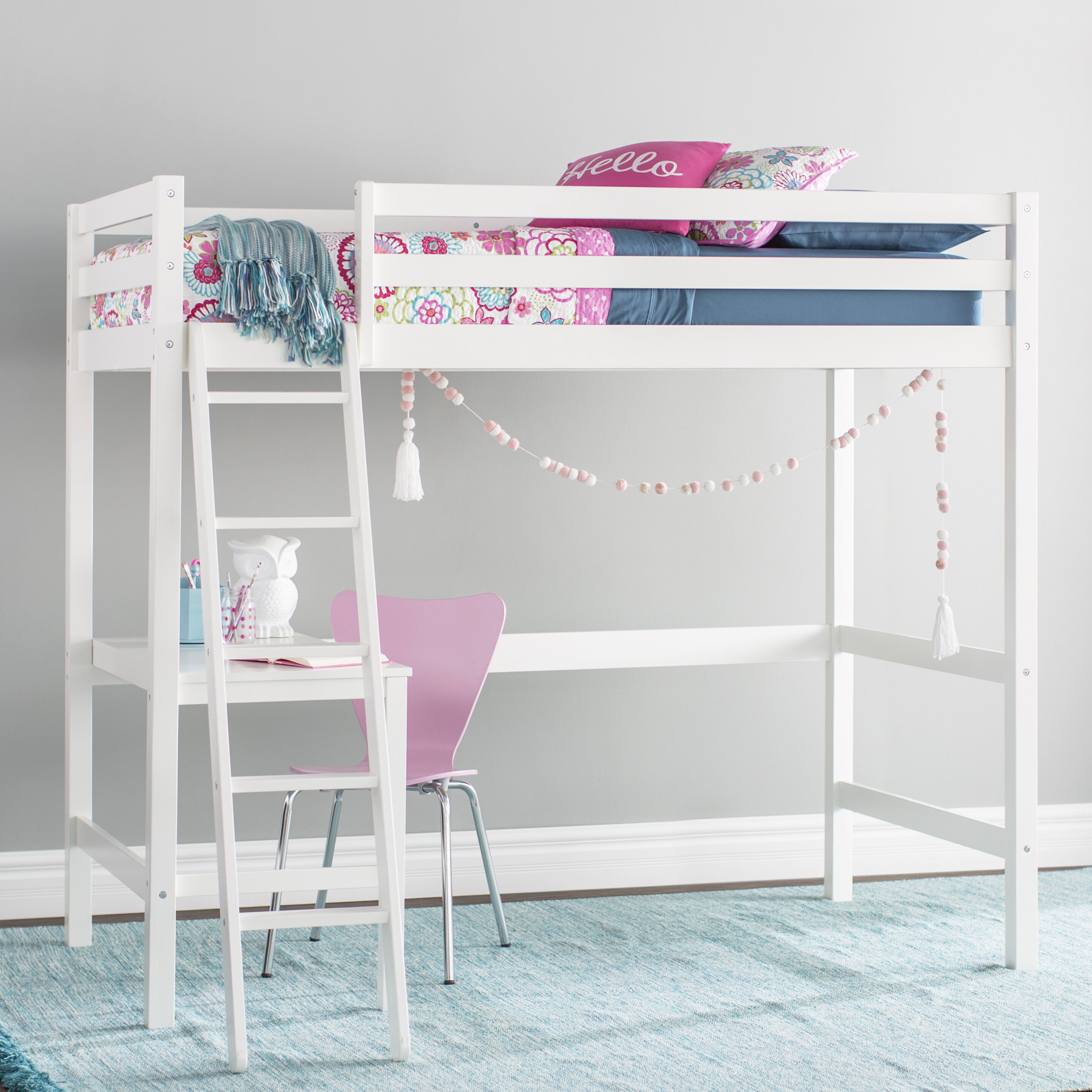 Advantages And Drawbacks Of Strong Wooden Loft Bed With Stairs Girls White Loft Bed With Desk - Ideas on Foter