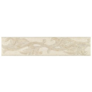 Decorative White Linen Beige Accent Strip