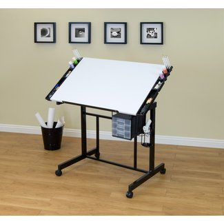 Deluxe Height Adjustable Drafting Table