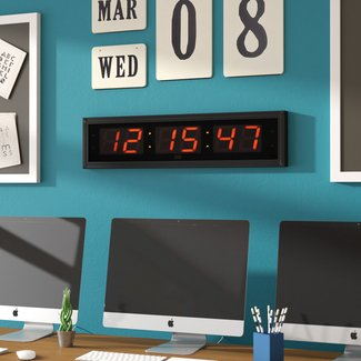 "Digital 5"" LED Clock with Remote Control"