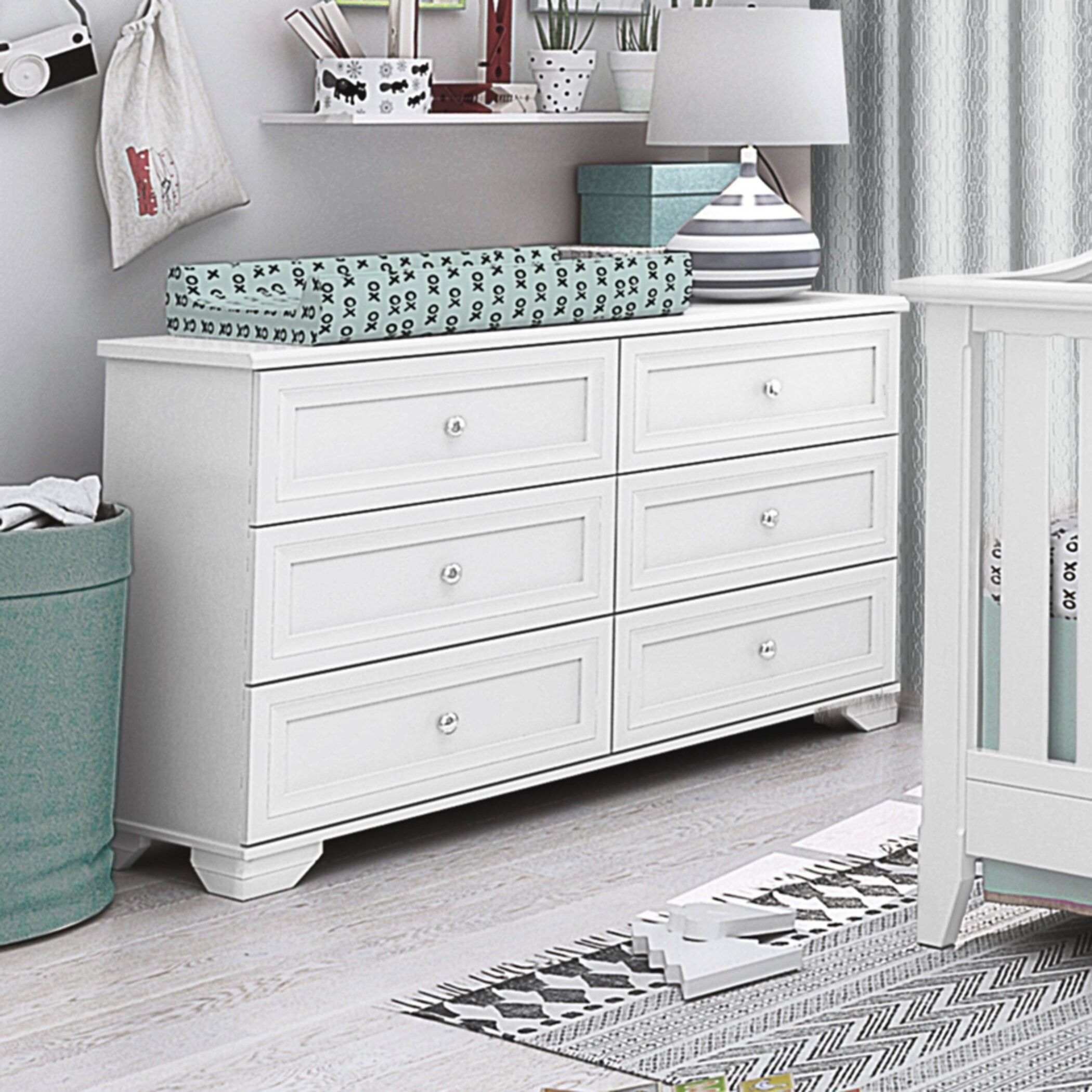 Essex 6 Drawer Double Dresser