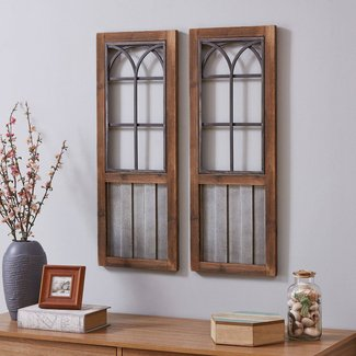 Farms Window Wall Décor (Set of 2)