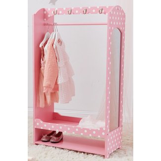 Fashion Polka Dot Prints Bella Toy Dress Up Unit Armoire