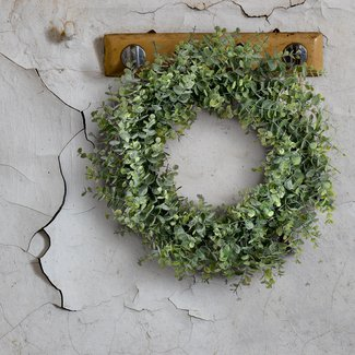 "Frosted Eucalyptus 20"" Foam Wreath"