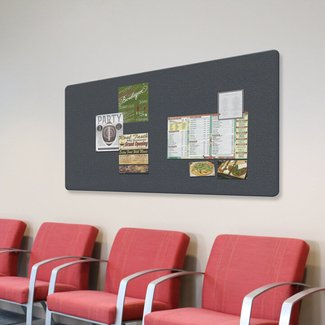 Ghent Fabric Wrapped Wall Mounted Bulletin Board