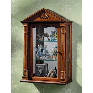 Glass Door Wall Mounted Curio Cabinet