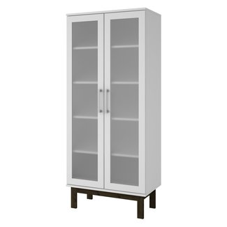 Glossy White Standard Bookcase