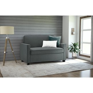 Gray Microfiber Twin Sofa Bed