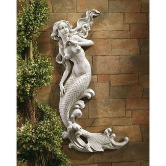 Gray Plastic Mermaid of Langelinie Cove Wall Décor