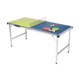 Indoor/Outdoor Table Tennis Table with Paddles and Balls