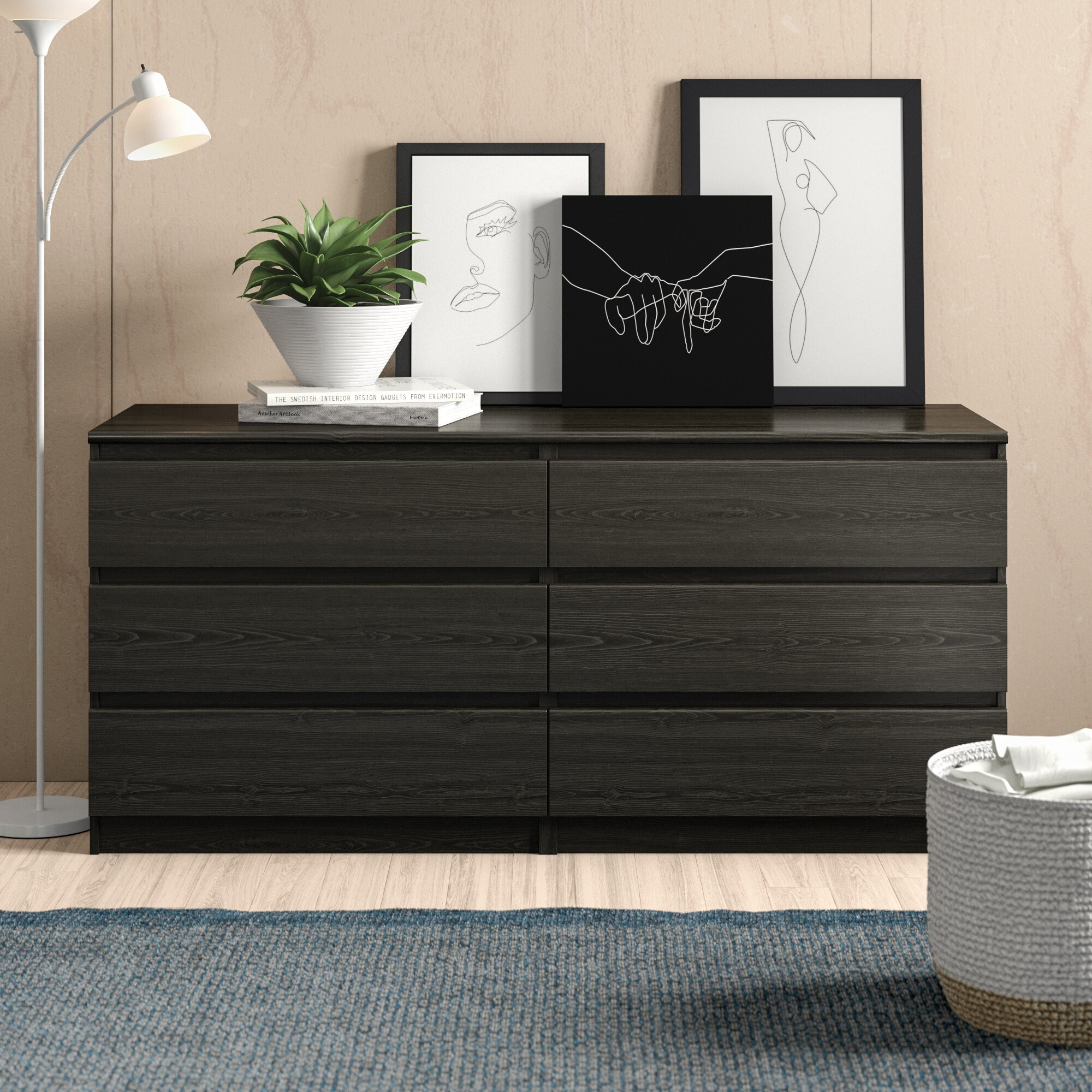 Kepner 6 Drawer Double Dresser