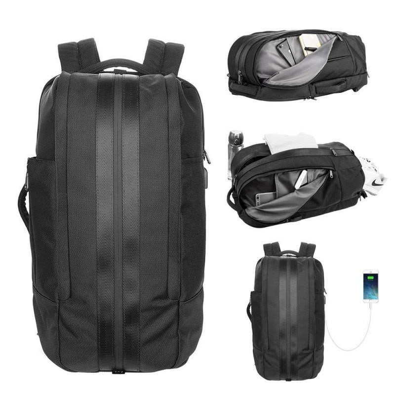 Large Duffel Travel Backpack with USB Charging Port