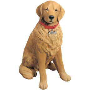 Life Size Sculptures Retriever Statue