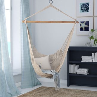 Lightweight Cotton Fabric Rope Chair Hammock