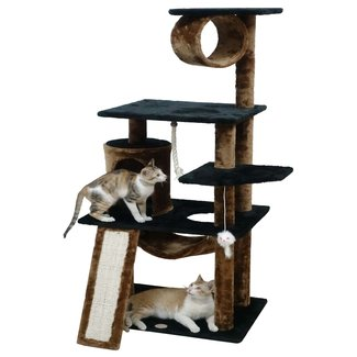 Manufactured Wood Faux Fur Condo Kitten Cat Tree