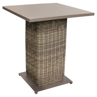 Metal and Wicker Bar Beige Bar Table