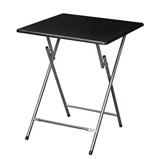 Metal Folding Tray Table With Silver Finish