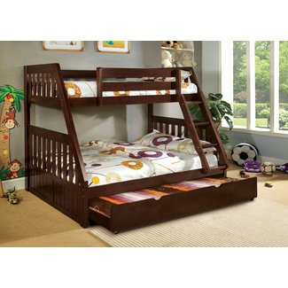 Mission Style Twin Over Full Triple Bunk Bed