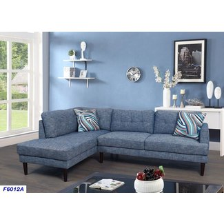Modern Linen Fabric Sectional Sofa