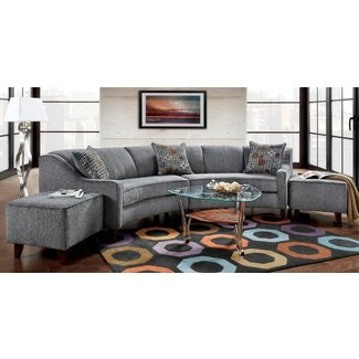 Modern Rounded Living Room Sectional