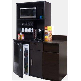 Nickel Finish Melamine Laminate Kitchen Pantry Cabinet
