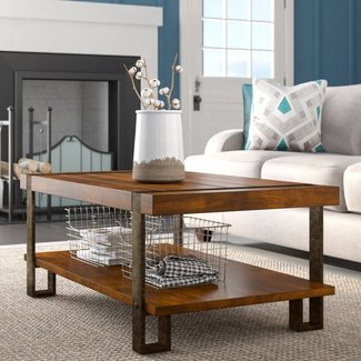 Wood Top Coffee Table Metal Legs Ideas On Foter