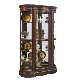 Old Fashioned Curio Cabinet With LED Lights