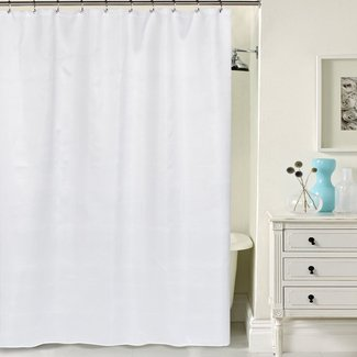PEVA Liner Double Swag Shower Curtain Set