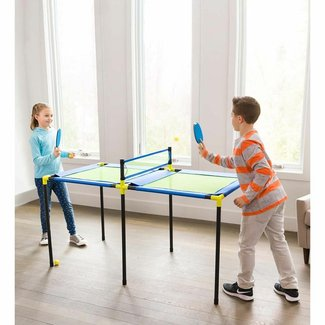Portable Foldable Indoor/Outdoor Table Tennis Table with Paddles and Balls (25mm Thick)