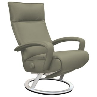 Premium Leather Manual Swivel Recliner