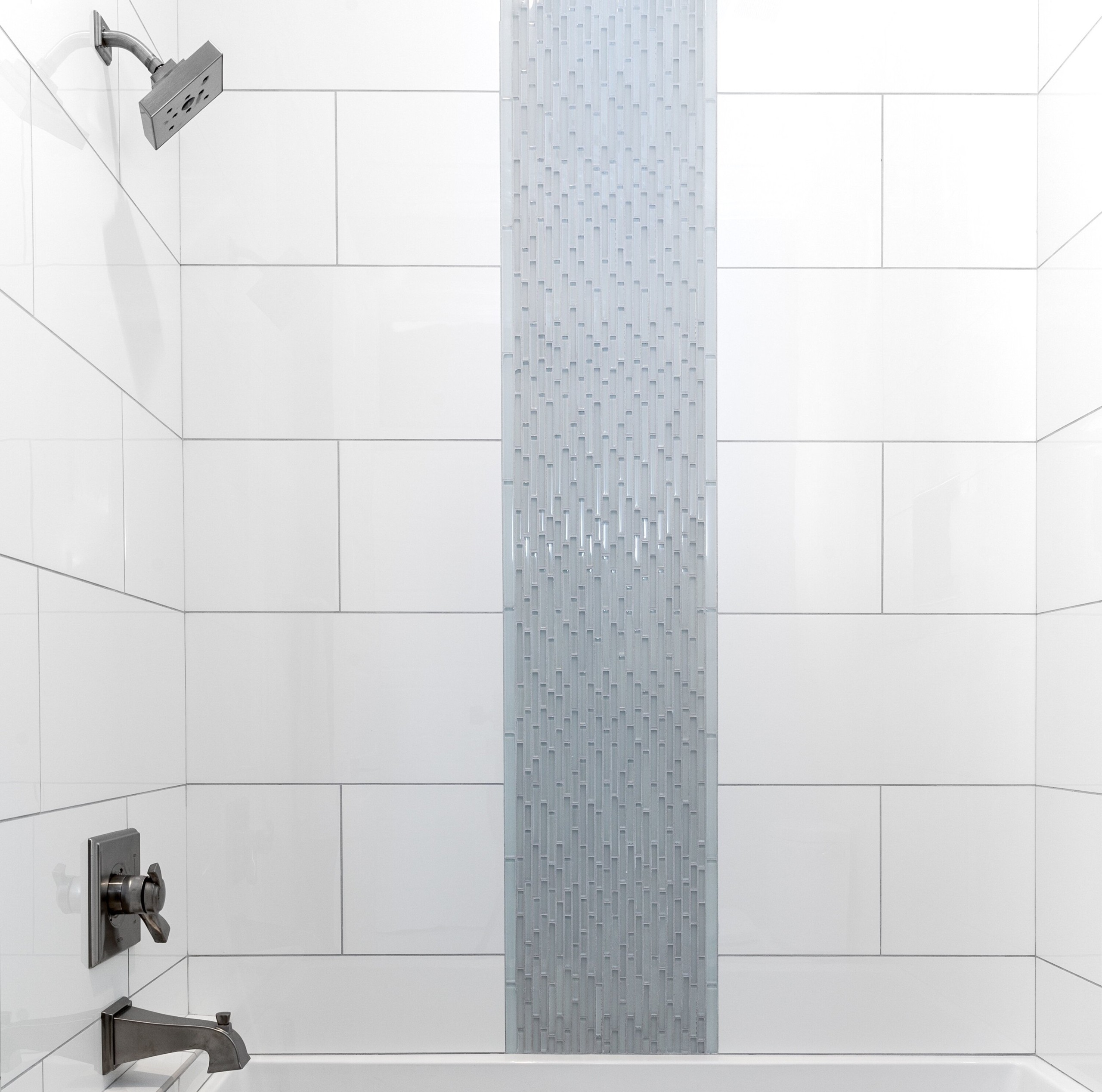 Pure White Porcelain Corner Piece Tile Trim For Shower Cabins