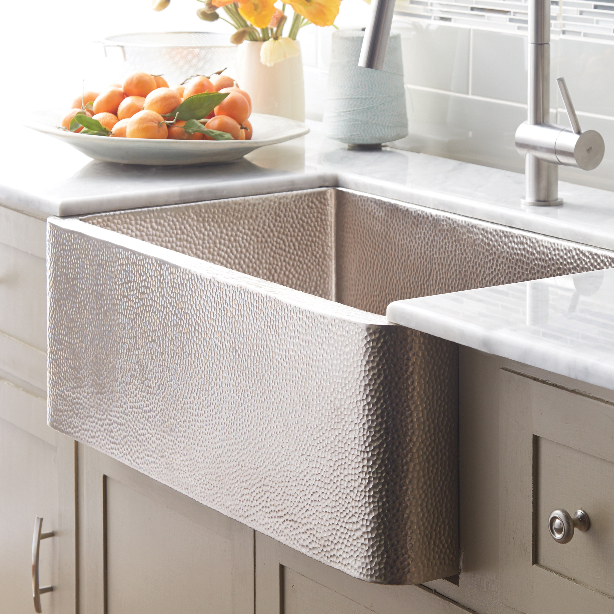 Recycled Copper Farmhouse Kitchen Sink