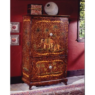 Reiter Hand-Painted TV Armoire