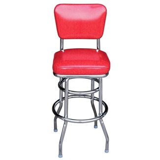 Retro Leather Barstool