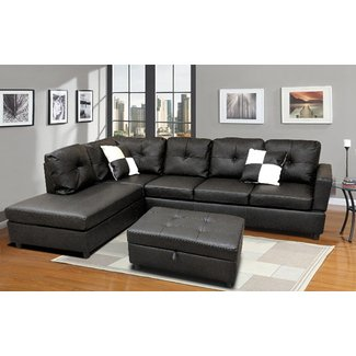 "Roughton 112"" Modular Sectional with Ottoman"